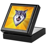 Courage Wolf Keepsake Box