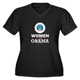 Women for Obama Women's Plus Size V-Neck Dark T-Sh