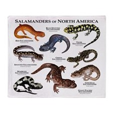 Salamanders of North America Throw Blanket