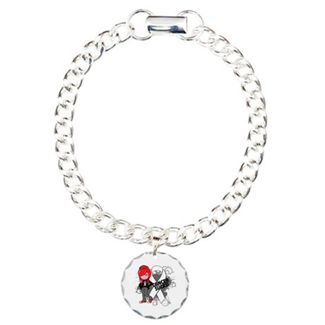 Retinoblastoma CANCER SUCKS Charm Bracelet, One Ch