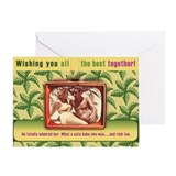 Retro TeeVee Cute Babe in Love Greeting Card