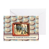 Retro TeeVee Suit Fits Greeting Card