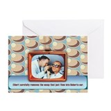 Retro TeeVee Wasp Blank Greeting Card