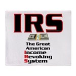 IRS - Income Revoking System Throw Blanket