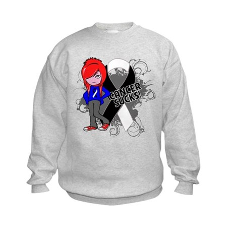 Carcinoid CANCER SUCKS Kids Sweatshirt