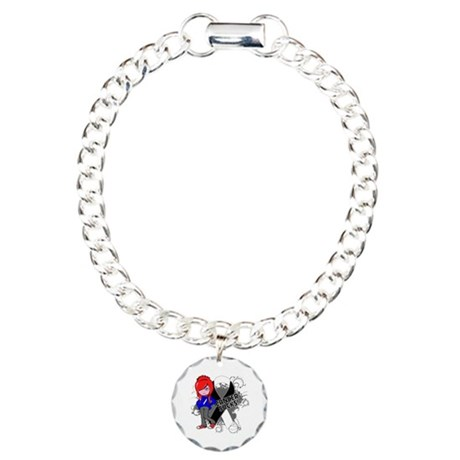 Carcinoid CANCER SUCKS Charm Bracelet, One Charm