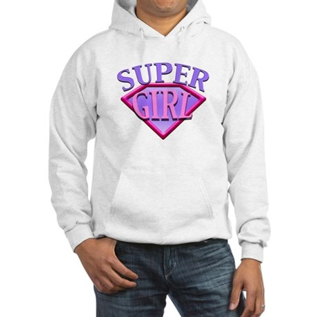 Super Girl (Pink) Hooded Sweatshirt