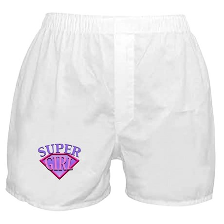 Super Girl (Pink) Boxer Shorts