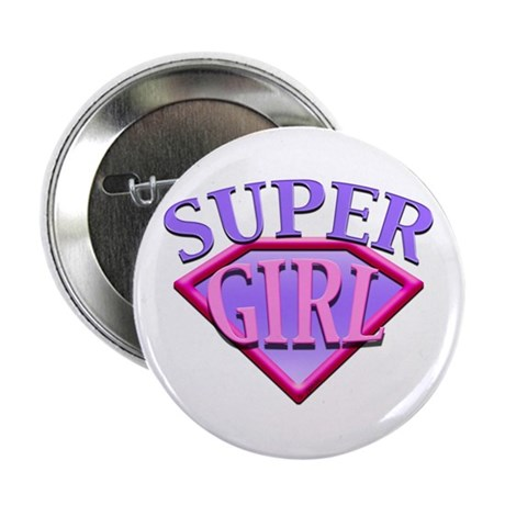 Super Girl (Pink) Button