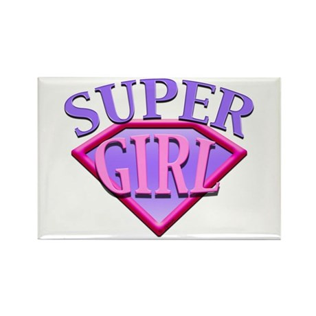 Super Girl (Pink) Rectangle Magnet