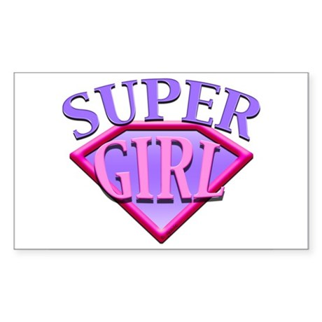 Super Girl (Pink) Rectangle Sticker