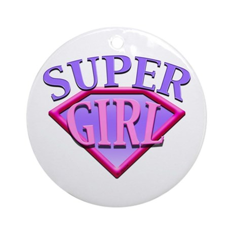 Super Girl (Pink) Ornament (Round)