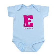 E for Effort Pink Infant Bodysuit