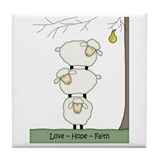 Love Hope Faith Tile Coaster