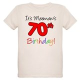Meemaws 70th Birthday T-Shirt