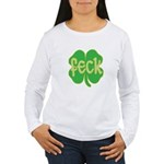 feck shamrock Women's Long Sleeve T-Shirt