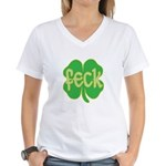 feck shamrock Women's V-Neck T-Shirt