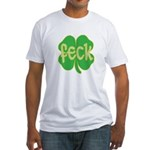 feck shamrock Fitted T-Shirt