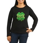 feck shamrock Women's Long Sleeve Dark T-Shirt
