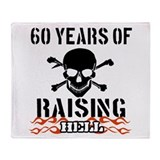 60 years of raising hell Throw Blanket