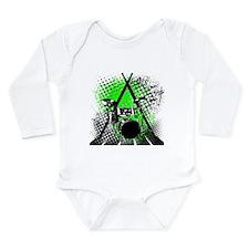 Drums & Sticks Long Sleeve Infant Bodysuit