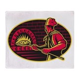 pizza baker Throw Blanket