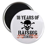 18 years of Raising hell Magnet