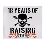 18 years of Raising hell Throw Blanket