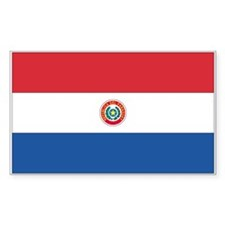 Paraguay Rectangle Decal