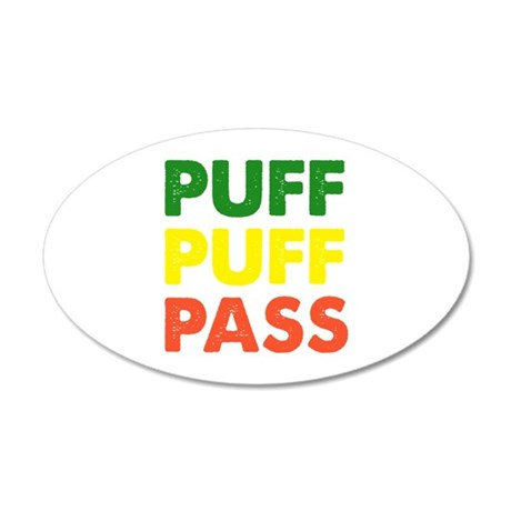 PUFF PUFF PASS 22x14 Oval Wall Peel
