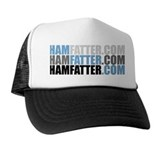 HAMFATTER X3 Trucker Hat (blu text)