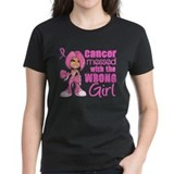 Messed With Wrong Girl Breast Cancer Tee
