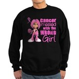 Messed With Wrong Girl Breast Cancer Jumper Sweater