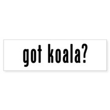 GOT KOALA Bumper Sticker