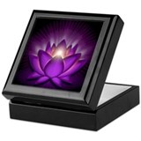 "Violet ""Crown"" Chakra Lotus Keepsake Box"