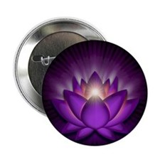 "Violet ""Crown"" Chakra Lotus 2.25"" Button (10 pack)"
