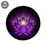 "Violet ""Crown"" Chakra Lotus 3.5"" Button (10 pack)"