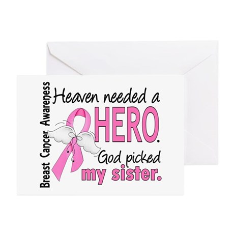 Heaven Needed a Hero Breast Cancer Greeting Cards