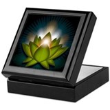 "Green ""Heart"" Chakra Lotus Keepsake Box"