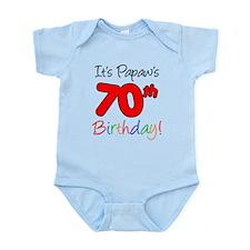 It's Papaws 70th Birthday Onesie