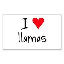 I LOVE Llamas Decal