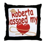 Roberta Lassoed My Heart Throw Pillow