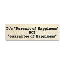 """Pursuit of Happiness"" 3 - Car Magnet 10"