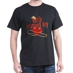 Ruth Lassoed My Heart Dark T-Shirt