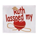Ruth Lassoed My Heart Throw Blanket
