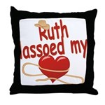 Ruth Lassoed My Heart Throw Pillow