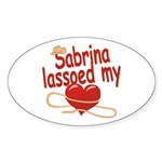 Sabrina Lassoed My Heart Sticker (Oval)