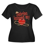 Sabrina Lassoed My Heart Women's Plus Size Scoop N