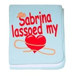 Sabrina Lassoed My Heart baby blanket