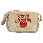 Sabrina Lassoed My Heart Messenger Bag